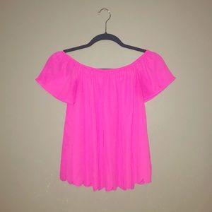 Pink luxury shirt: like new!